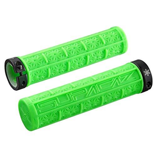 Deporte al Aire Libre 2pcs Manillar de Silicona Agarre MTB Gel de sílice Mango de Bicicleta empuñaduras Conjunto Antideslizante absorción de Choque Accesorios de Ciclismo (Color : Green as Shown)