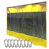 Cortina Para Exteriores, Lona Impermeable Transparente, Lona Transparente Para PVC Con Ojales, Duradera Para Jardín Al Aire Libre, Pérgola, Garaje ( Color : Yellow , Size : 1.6x6m )