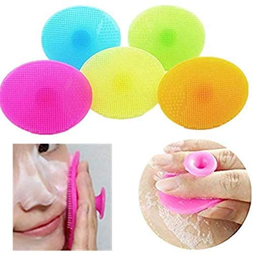 Ergonflow Ultra Soft Silicone Face Scrubber, Handheld Facial Cleansing...