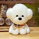 Lulihhhh 25/35/55 cm Lindo pequeño Cachorro de Juguete Perro Blanco Teddy Bichon Felpa muñeca de Trapo muñeca muñeca niños niña Regalo 35 cm B