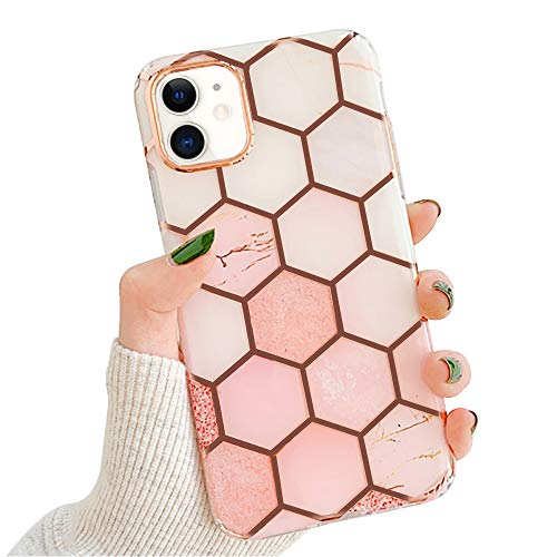 Lchullelchulle Marble Case For Iphone 11 Pro Fashion Geometric Hexagon Design For Girls Women Shiny Rose Gold Streaks Clear Bumper Soft Tpu Rubber Cover For Iphone 11 Pro Pink Dailymail