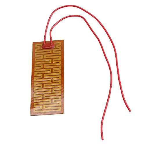 32.5x90mm 12V 10W PI Plastique Adhésif Film Chauffant Ruban Chauffant Plaque Plaque pour et Équipement de Beauté