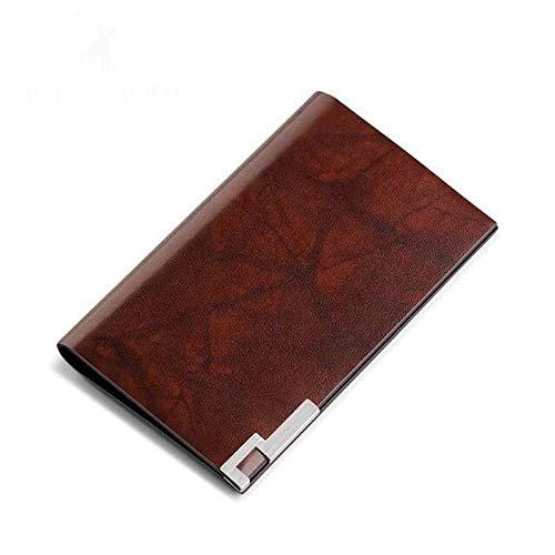 Visitenkartenetui Leder Herren Brieftasche Clip Mini Kreditkartenetui