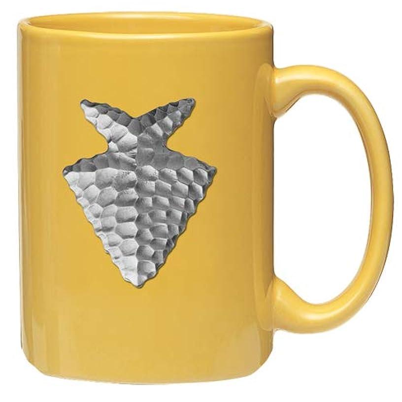 1pc, Pewter Arrowhead Coffee Mug, Yellow