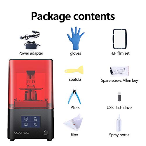 """""""NOVA3D Bene4 LCD 3D Printer with 4.3inch Smart Touch Screen and Upgraded UV Light 130X70X150MM Print Size"""" - 7"""
