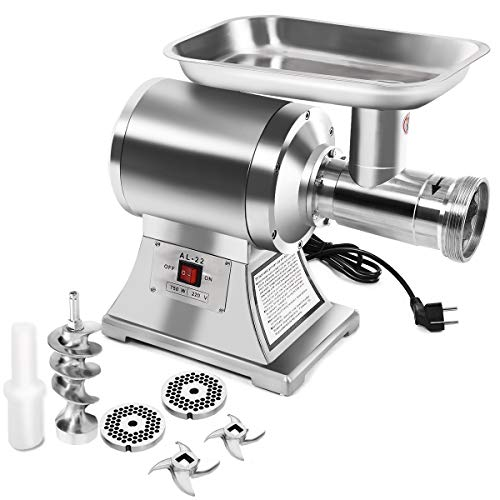 Giantex Electric Meat Grinder, 1.5HP 1100W Meat Mincer with 2...