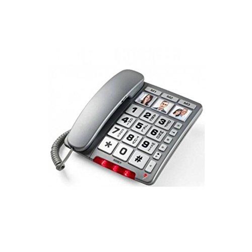 Saiet 13500512 Telefono Multifunzionale a Tasti Grandi...