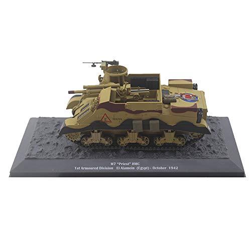CMO Maqueta Tanque de Guerra, Cañón autopropulsado M7 Priest HMC 1St EE UU Metal Militares Escala 1:43, Juguetes y Regalos para Niños, 5,5 X 2,6 Pulgadas