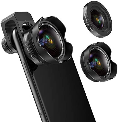 Phone Camera Lens 5K HD 2 in 1 120 Wide Angle Lens 20X Macro Lens Clip On Phone Lens Compatible product image