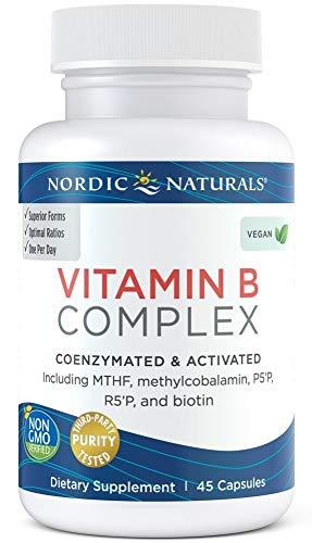 Nordic Naturals Vitamin B Complex, 45 Caps, 55 g