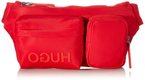 HUGO Herren Record_Waist Bag Gürteltasche, Bright Red620, ONESI