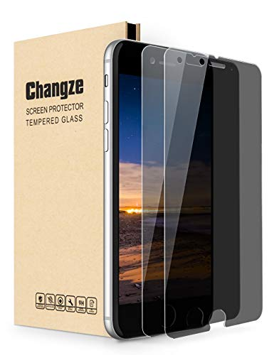 Changze Privacy Screen Protector for iPhone 6plus and 6splus(5.5Inch),Anti Spy 9H Hardness 2.5D...