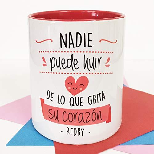 LA MENTE ES MARAVILLOSA - Taza con Frase de Redry (Nadie Puede huir de Lo Que grita su corazón) Taza Redry