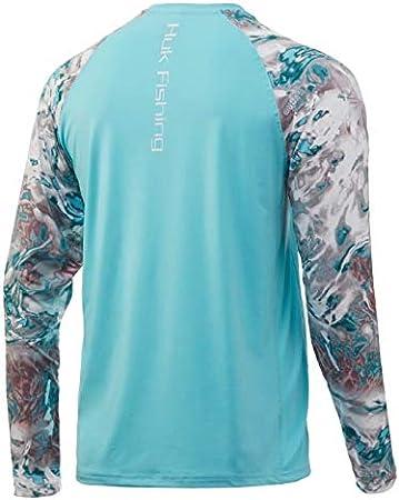 HUK Mossy Oak Double Header Vented Fishing Long Sleeve Shirt