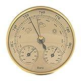 CLISPEED 3 en 1 Barómetro Termómetro Higrómetro Colgante de Pared Estación Meteorológica Doméstica