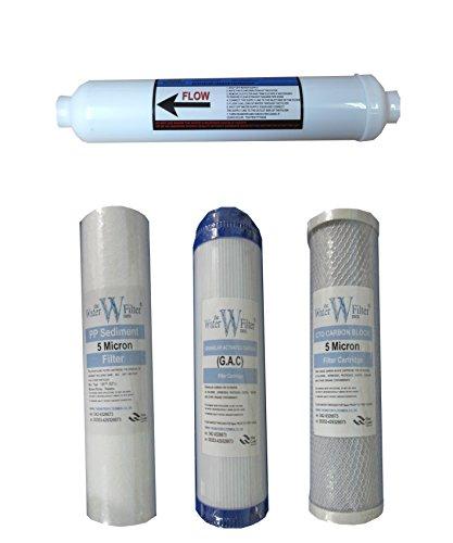 The Water Filter Men Système de Filtre à Osmose Inverse Lot de filtres (4 filtres/annuel de Remplacement de filtres à Eau RO)