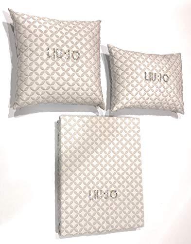 Liu Jo Tagesdecke gefüttert Doppelbett mit Swarovski-Logo + 2 Kissen Logo SW Art. Dama Linea