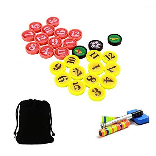 CHSEEO Fußball Taktikmappe Zubehörset(Magnete, Stifte, Radiergummi), Perfekt für Fußball Taktikboards, Büro, Whiteboards, Kühlschränke, Karten & Magnettafeln #1