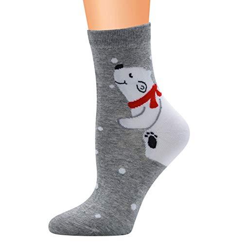 Qlans Unisexe Coton Chaussettes Nouveauté Amusant Chaussettes De Noël Cadeau De Vacances De Noël pour Hommes Et Femmes