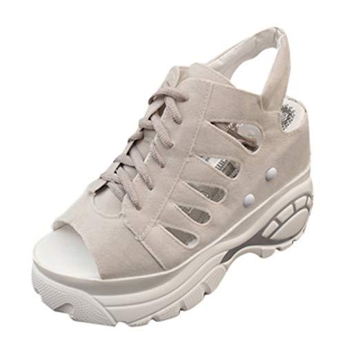 Mules Sabots Femmes Chaussures de Sport Dames Mode Bouche de Poisson Plate-Forme épaisse Mocassins Compensés Sandales Chaussures LianMengMVP