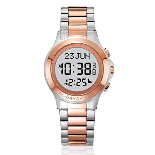 AL-SAHAR Armbanduhr Digital Uhr, Adhan Uhren, Azan Uhr, Islamische Uhr Islamische Gebetszeiten für Muslim, Gebetszeiten für USA, Azan Wecker (AS-T003TTRG)