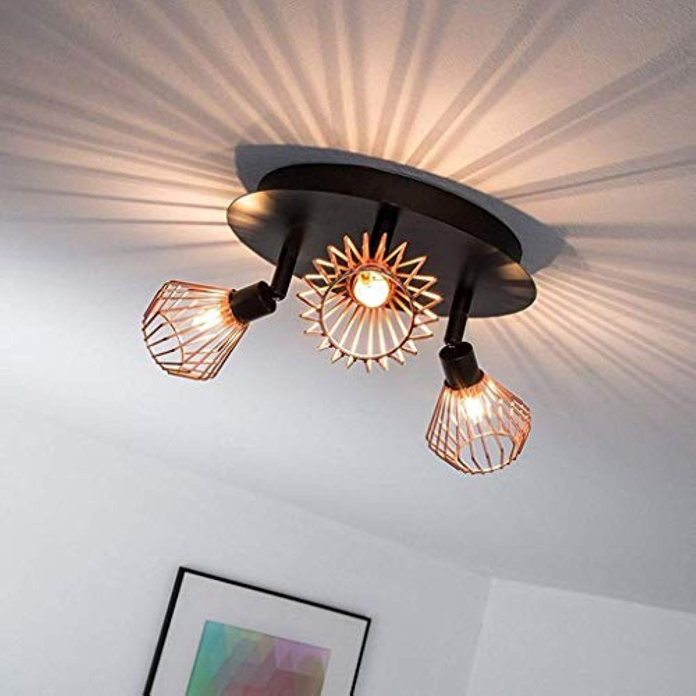 Xiao Fan  LED-Deckenleuchte, G9 LED-Deckenstrahler Retro Industrial Wind Deckenleuchte Innendekoration Lampe -3 Light schwarz