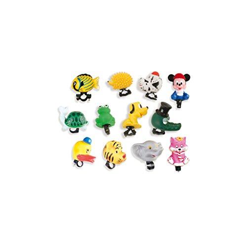 V PARTS - 707 : Caja de 12 bocinas infantiles surtidas de animales bici bicicleta