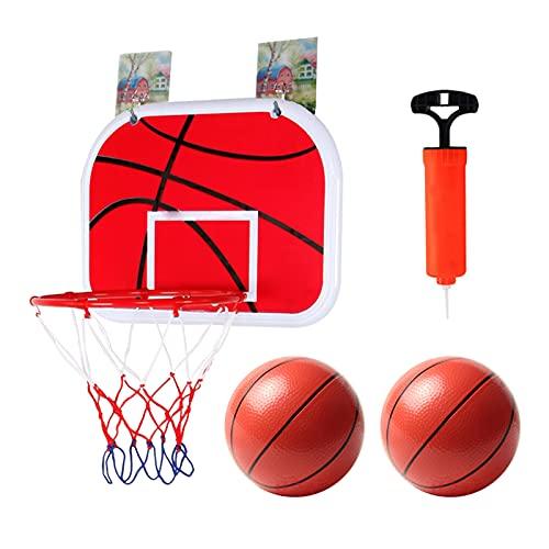 4YANG Aro de Baloncesto, Mini aro de Baloncesto para niños, Juego de Pelota de Tiro para Interior montado en la Pared, Juego Deportivo, para Dormitorio, baño, Inodoro, Oficina, Escritorio