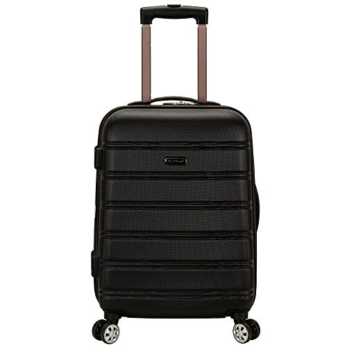 Rockland Melbourne Hardside Expandable Spinner Wheel Luggage, Black, Carry-On 20-Inch