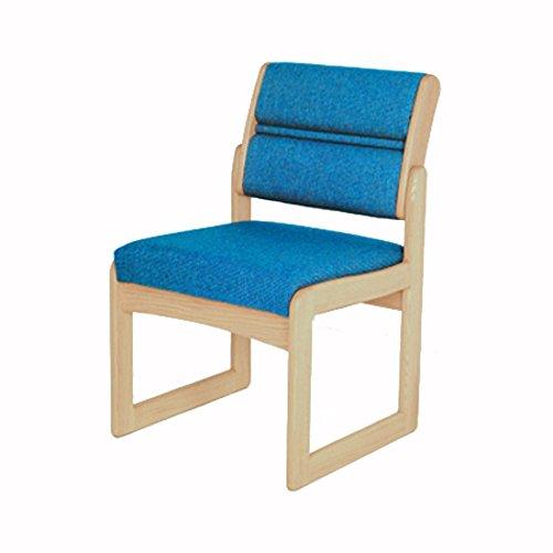Wooden Mallet DW2-1 Valley Armlehnstuhl für Gäste, Eiche hell/Aquarell Grün