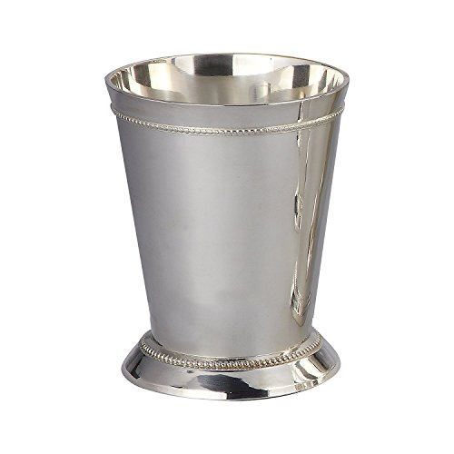 7.6cm BEADED MINT JULEP CUP - 7.6cm SILVER PLATED BEADED MINT JULEP CUP