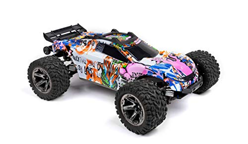 Custom Body Graffiti Pink Pig Style Compatible for Rustler 4X4 1/10 Scale RC Car or Truck (Truck not Included) R4-P-01