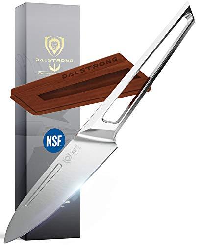 DALSTRONG Cuchillo de pelar – 4.5 pulgadas – Serie Crusader – Forjado Thyssenkrupp acero inoxidable alemán de alto carbono – con vaina magnética – Certificado NSF