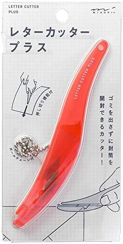 ミドリ レターオープナー レターカッター プラス ピンク 49851006 【× 3 個 】