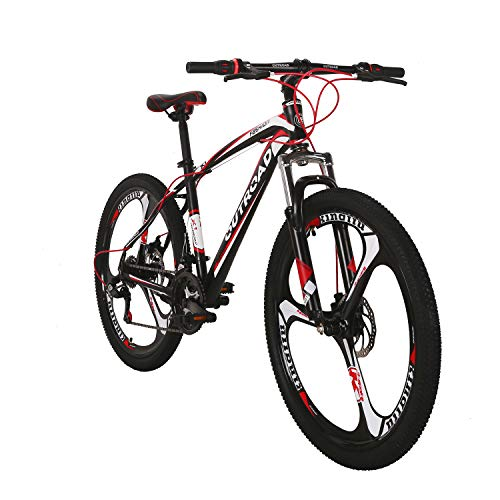 Outroad Mountain Bike 26inch 21 Speed 3 Spoke Commuter Bicycle (Red)