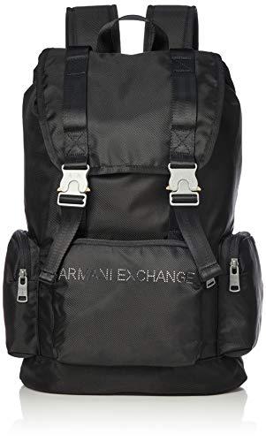 Armani ExchangeBuckle BackpackHombreMochilasNegro (Black)43.5x14.5x29 centimeters (B x H x T)