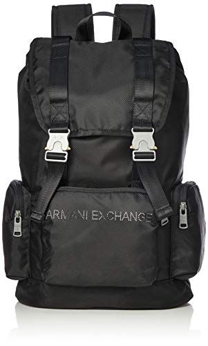 Armani ExchangeBuckle BackpackHombreMochilasNegro (Black)43.5x14.5x29 centimeters (B x H x T)