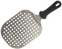 paderno paletta pizza ovale forata, in acciaio inox