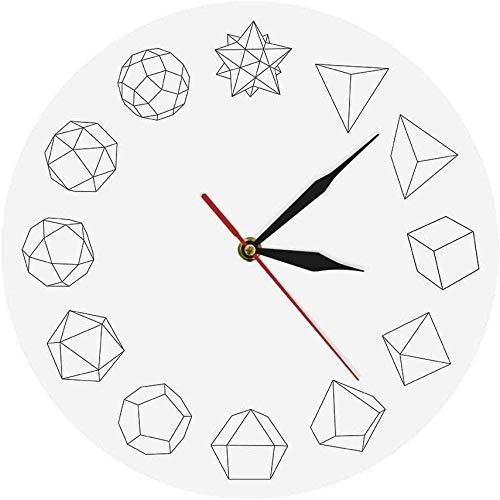 quanjiafu Wanduhr Stilvolle Solide Moderne Einfache Wanduhr Geometrie Ative Acryl Wanduhr Hängende Zeitmesser Abstrakte Geometrie Lautlos Leicht Zu Lesen