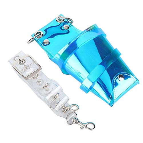 Pwshymi Bolsa de Tijeras Bolsa de Tijeras de Corte de Pelo portátil para salón para Uso doméstico(Dazzling Blue)