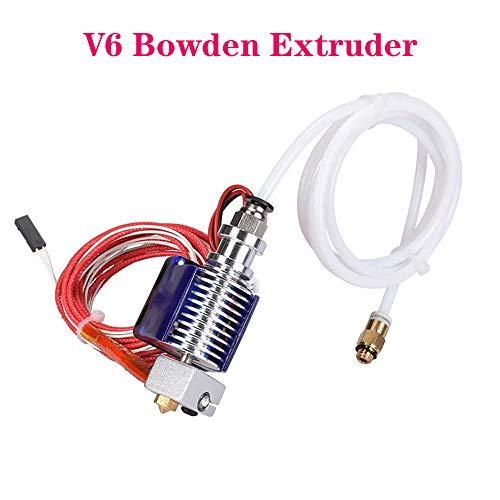 PoPprint 3D V6 - Extrusor para impresora RepRap 3d (V6 Bowden Extrusor Bowden de 12 V, tubo de PTFE, 1,75 mm)