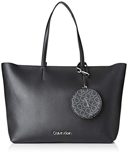 Calvin Klein Damen Ck Must Shopper Md Tote, Schwarz (Black), 1x1x1 cm