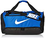 Nike Brasilia Training Medium Duffle Bag, Durable Nike Duffle Bag for Women & Men with Adjustable Strap, Game Royal/Black/White