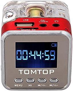 Docooler Mini Digital Portable Music MP3/4 Player TF USB Disk Speaker FM Radio Red