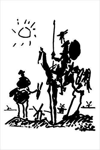 Buyartforless Don Quixote by Pablo Picasso 36x24 Art Print Poster Famous Painting Man of La Mancha