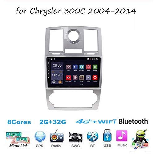 Android-Autoradio-Radio Doppel-Din-Navi für Chrysler 300C 2004-2014 GPS-Navigation 9-Zoll-Touchscreen-Kopfeinheit DSP RDS-Multimedia-Player-Videoempfänger
