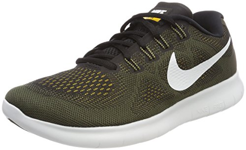 Nike men Free Run Distance Low Top Lace Up Running Sneaker, Black, Size 12.0