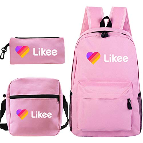 LIKEE High Quality Backpack Cute Backpack Teens Backpacks Book Bags Book Bags for Girls Boys Likee Popular Backpack 1 3Pcs Set