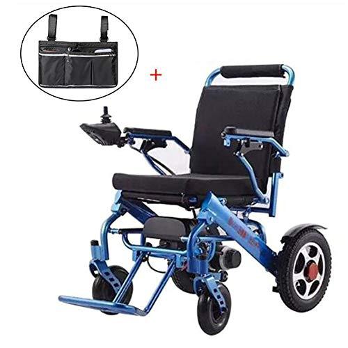 GUTYRE Faltbare Elektro-Rollstuhl mit Aufbewahrungstasche, Automatische Leichten Gehhilfe, Elektrischer Energie oder manueller Manipulation Rollstuhl für Senioren, 25kg