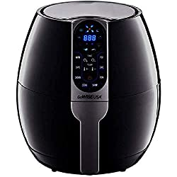 in budget affordable GoWISE USA Programmable Tempura Pot 3.7 qt, 8 Cooking Presets, GW22638 – Black